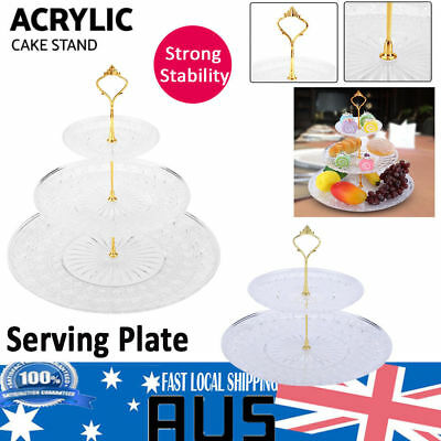 Crystal Fruit Cupcake Cake Stand Display Plate For Wedding Party Afternoon Tea