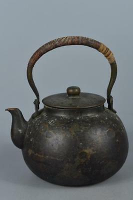 M8178: Japanese Finishhammer pattern OLD COPPER BOTTLE Teapot Dobin Tea Ceremony