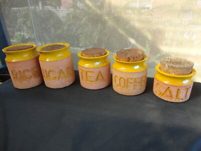 Mid 20th Century Florenz Australian Pottery Set 5 containers