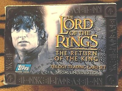 New 2003 Topps Lord Of The Rings ~ Return Of The King Uk Europe 20 Card Set Nrfb