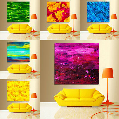 Colorful Modern Canvas Oil Print Home Wall Decor Bright Colour Painting Picture
