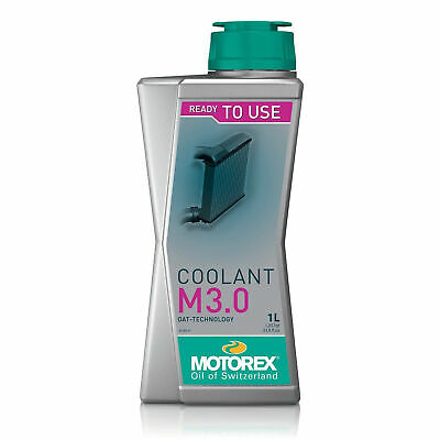 Motorex Motorcycle / Bike Red Coolant / Antifreeze M3.0 Pre-Mix - 1 Litre