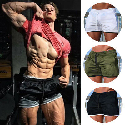 AU Men's Run Sports Shorts Breathable Gym Training  Fitness Jogging Casual Pants
