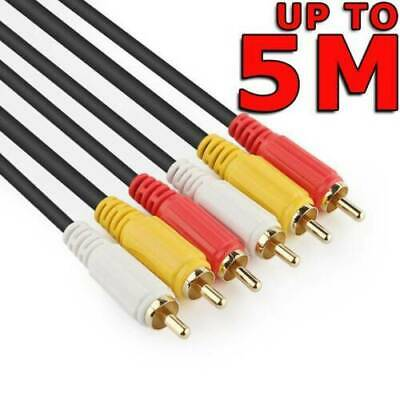 AV Audio Video Composite Cable 3RCA to 3 RCA M/M Cord Male TV DVD 1.5m 3m 5m