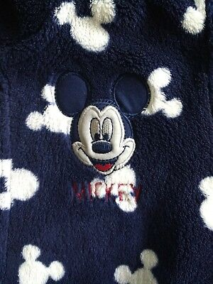 Mickey Mouse Dressing Gown Blue And White Disney @ George 18-24 Months