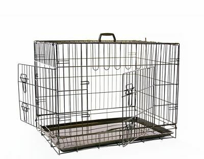 Mikki Dog Crate Cage 2 Door Training Folding Car Travel Transport | 5 Sizes