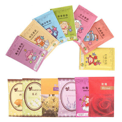 10 Natural Air Freshener Perfume Vanilla Sachets Paper Bag Car Home Fragrance&s