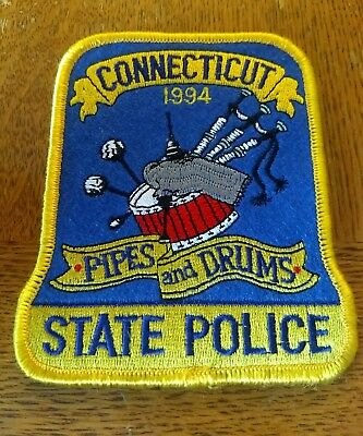 Connecticut State Police Pipes & Drums Embroidered Patch