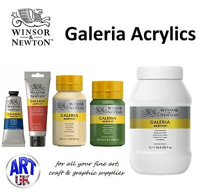 Winsor & Newton GALERIA Acrylic Colour all sizes Tube/Pot Artists student Paint