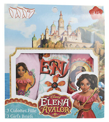 Disney Elena Of Avalor 3 Pack Knickers Kids Briefs Multipack Character Underwear
