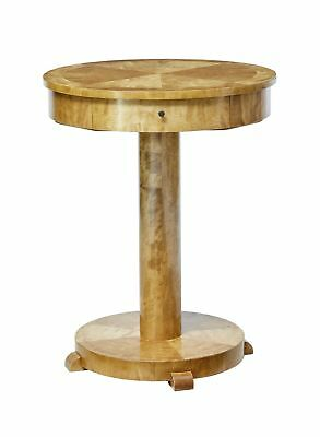 Early 20Th Century Swedish Birch Round Occasional Table