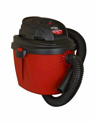 Shop-Vac 2.5-Gallon 2.5 Peak HP Wet Dry Vacuum, Small, Red/Black 2036000