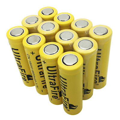 1/2/4/6/8/10/12/16X 18650 Batterie 9800mAh Li-ion rechargeable Battery Flat top