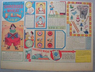 """Nabisco Cereal Ad: Shredded Wheat """"Fun Shop"""" from 1932"""