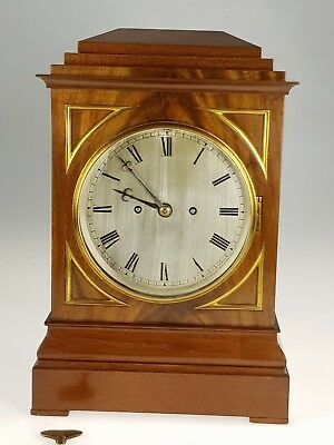 Handsome Mahogany Twin Fusee, Bell Strike, Bracket Clock