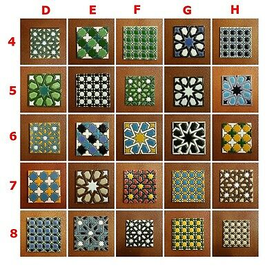 Azulejos de ceramica (7.5cm/3in) - x12 Mix Spanish Ceramic tiles - Pack de 12 -