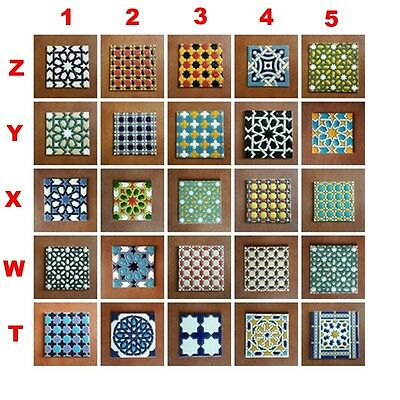 Azulejos de ceramica (11cm/4.33in) - x6 Mix Spanish Ceramic tiles - Pack de 6 -