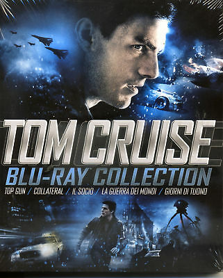 TOM CRUISE COLLECTION - COFANETTO 5 FILM - BLU-RAY nuovo sigillato [dv59]
