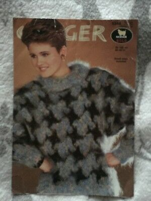 Vintage Knitting Pattern Jaeger Ladies Embroidered Sweater 32 42in