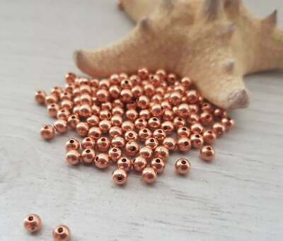 3mm Copper Beads - Genuine Copper - Solid Copper Beads