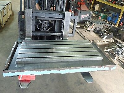 "47"" x 25.5"" x 3.25"" Steel Weld 5 T-Slot Table Cast iron Layout Plate Fixture"