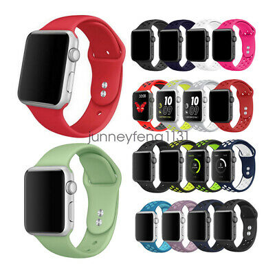 Apple Watch iWatch Series 5 4 3 2 1, Replacement Silicon Sport Watch Band Strap