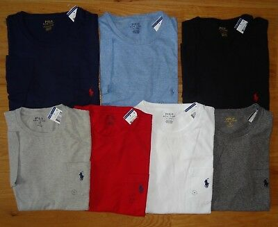 Polo Ralph Lauren Mens POCKET CREWNECK  TEE T Shirt  Brand New With Tag NWT