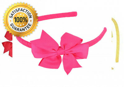 Alice Band with Beautiful Grosgrain hairbow Hair Bow Hairband (Set of 6...
