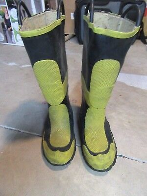 morning pride  Fire Boots Size 6  Used  Fire EMS EMT ER steel toe shank