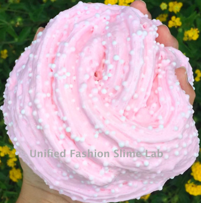 Pink Candyfloss Floam Slime, Crunchy Scented Floam Pink Slime Putty