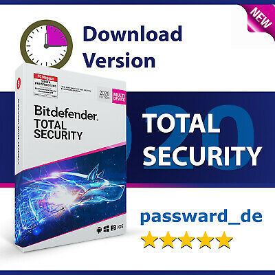 Bitdefender Total Security 2019 Multi-Device 1 Gerät (PC) 1 Jahr inkl. VPN