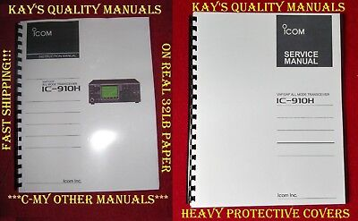 ICOM IC-910H Instruction & Service Manuals w/Heavy Covers *C-MY OTHER MANUALS*