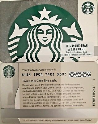 """2018 Starbucks """"mermaid Silver Sparkle"""" Gift Card #6154 Mint No Value"""