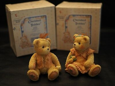 "Cherished Teddies - Bucky & Brenda ""How I Love Being Friends With You"" Set of 2"