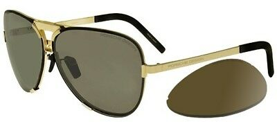 4a4b1dda6bfc NEW PORSCHE DESIGN P 8678 A Dark Gun  Light SIlver Mirror Aviator ...