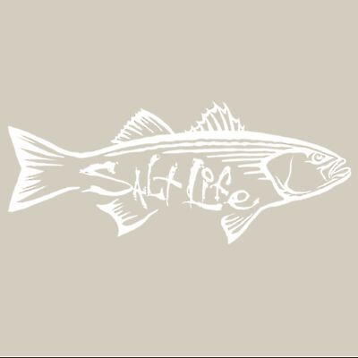Salt Life Striper Hunt Decal White