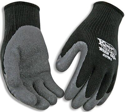 Kinco 1790-L Men's Cold Weather Latex Coated Knit Glove, Large, Black