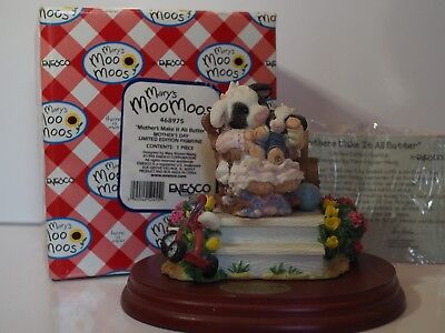 Mary's Moo Moos Mothers Make It All Butter Limited Edition Cow Figure /Base 1998