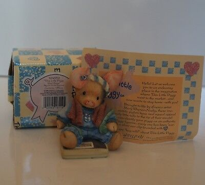 Enesco This Little Piggy Figure Had None #124559 Year 1994 On Scale