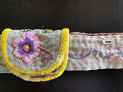 Dosa Very Special Embroidered Beaded Hand Stitched Adjustable Belt Christina Kim