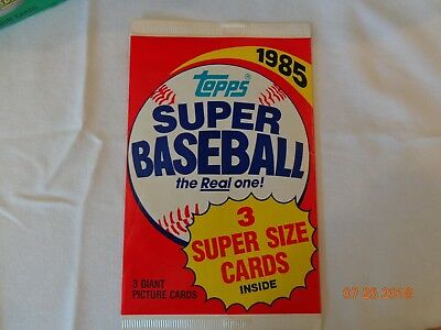1986 1987 1988 Baseball Topps Wax Pack Plus One Giant Pack 1985 (RARE) Vintage