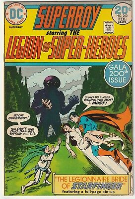 Superboy #200 1974 Legion of Super-heroes Nick Cardy cover Dave Cockrum