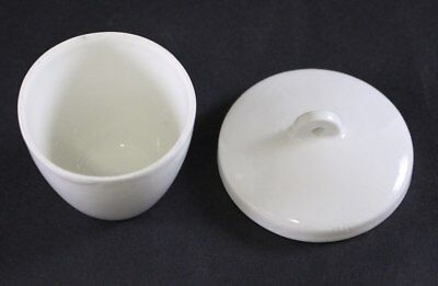 Crucible with Cover, 50 mL, Tall Form, Porcelain