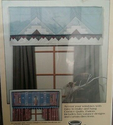 Southwest Cornice Quilts #888 - 2 Valances And Curtain Patterns