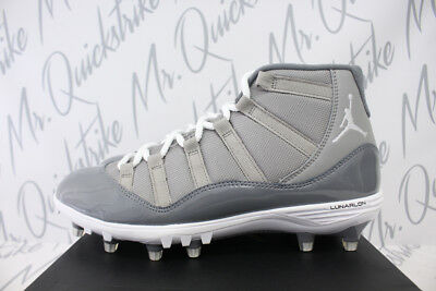 8182fad0025c43 Air Jordan 11 Retro Xi Mid Td Cleats Sz 8.5 Cool Grey White Ao1561 003