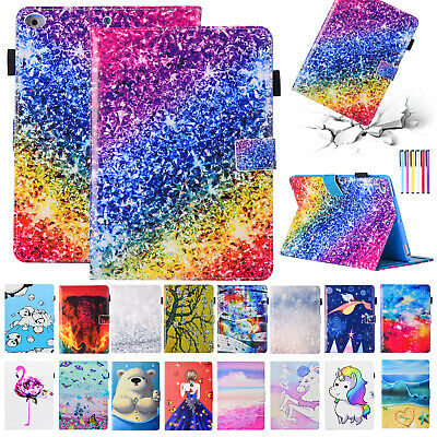 For iPad 6th 9.7 2018/Mini/Air Smart Leather Case Wallet Card Pocket Stand Cover