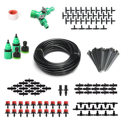 Automatic 40M Micro Irrigation System Water Timer Spray Garden Watering Hose Kit