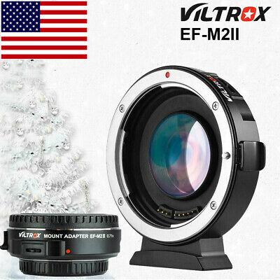 #US VILTROX EF-M2 AUTO FOCUS ADAPTER SPEED BOOSTER FOR CANON EF EOS to MFT M43