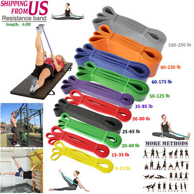 Resistance Bands Loop Crossfit Yoga Pull Up Exercise Fitness Strength 5-250lbs
