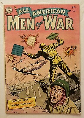 All American Men Of War #14 (Dc Comics 1954) Rare Golden Age Dc Comics!